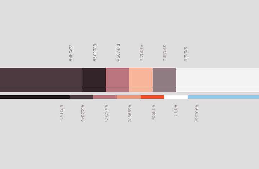 Цветовая схема для сайта компании Ратко
