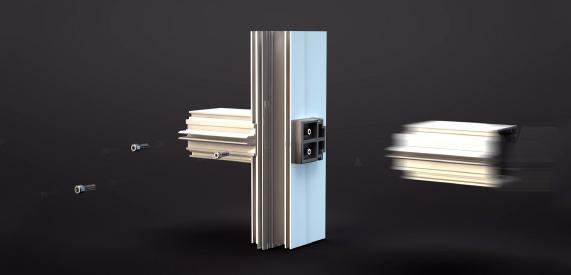 Алюминиевый профиль 3D анимация