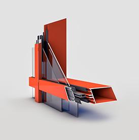 Фасадная система алюминиевых профилей 3д