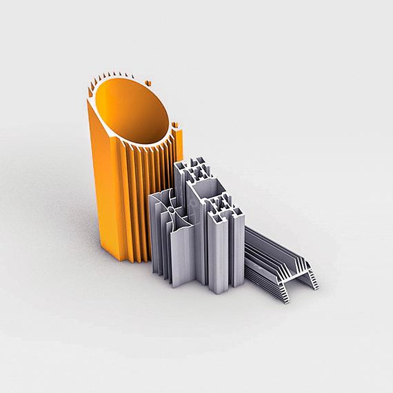 Чертежный алюминиевый профиль 3д